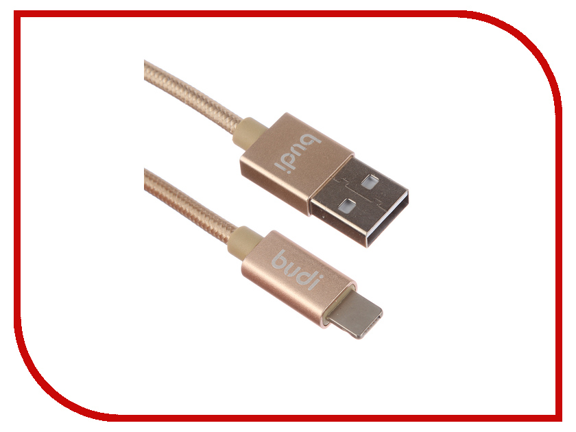 Аксессуар Budi USB - MicroUSB + Lightning M8J175 1m Gold аксессуар budi usb microusb lightning m8j175 1m silver