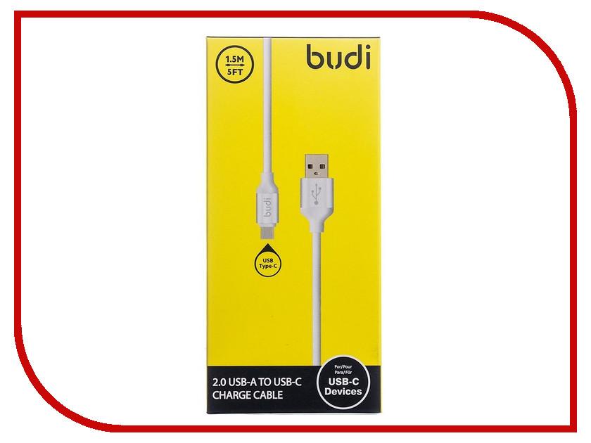 Аксессуар Budi USB - Type-C M8J173T 1.5m White аксессуар budi usb lightning m8j144 1 2m black