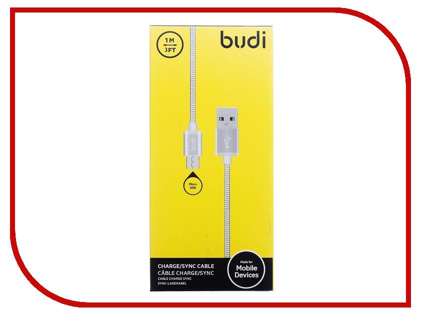 Аксессуар Budi USB - MicroUSB M8J172M 1m Silver
