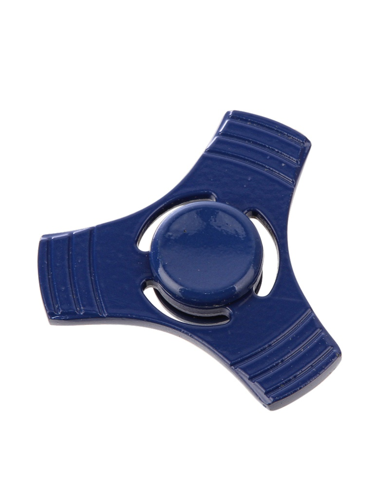 Спиннер Aojiate Toys Finger Spinner Metal with Lines Blue RV573