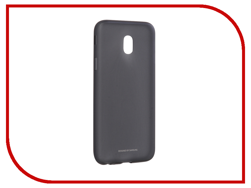 Аксессуар Чехол Samsung Galaxy J3 2017 SM-J330 Jelly Cover Black SAM-EF-AJ330TBEGRU аксессуар чехол накладка samsung sm g928 galaxy s6 edge clear cover silver sam ef qg928csegru