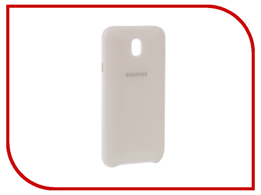 Аксессуар Чехол Samsung Galaxy J7 2017 SM-J730 Layer Cover White EF-PJ730CWEGRU аксессуар чехол samsung galaxy j7 2017 sm j730f wallet cover gold ef wj730cfegru