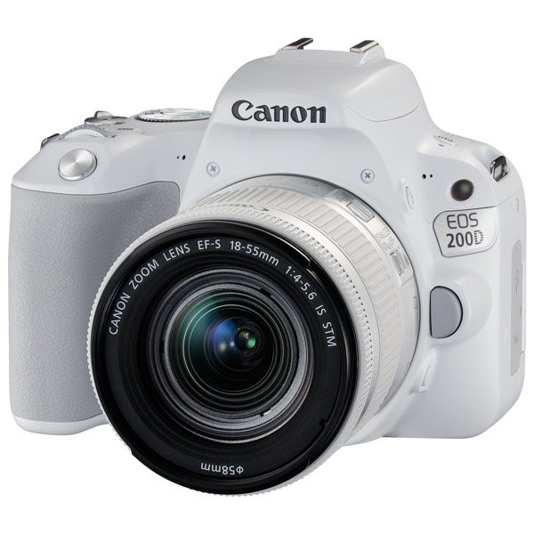 Фотоаппарат Canon EOS 200D Kit EF-S 18-55 mm f/4-5.6 IS STM White цена 2017