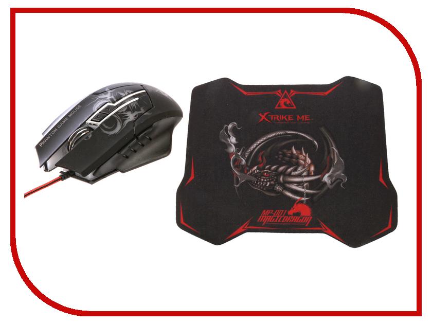 Мышь Xtrike ME GMP-501 USB + коврик