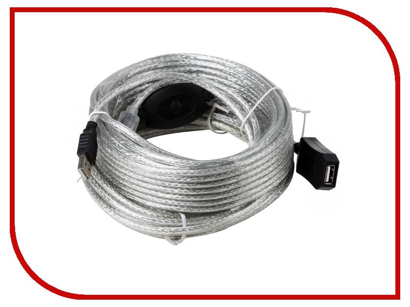 Аксессуар AOpen USB 2.0 AM-AF 15m ACU823-15M аксессуар dialog 30 pin m to usb am 0 15m hc a6201