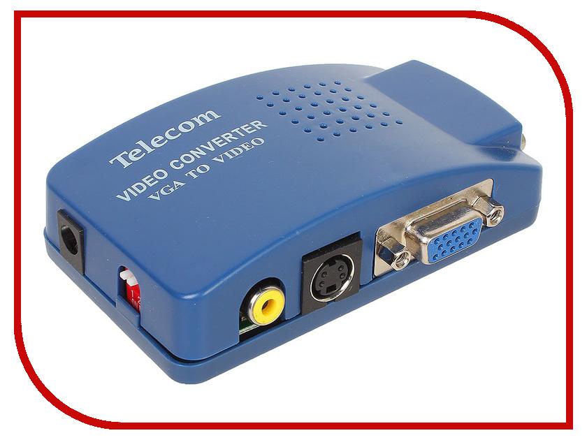 Цифровой конвертер Telecom VGA - AV TTC4030 brand new ati radeon 7000 64m sdram vga tvo av agp graphic card video card vga tvo av high quality