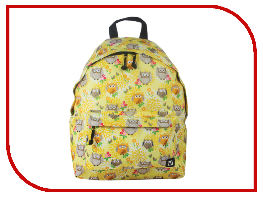 Рюкзак BRAUBERG Совушки в цветах Yellow 226405