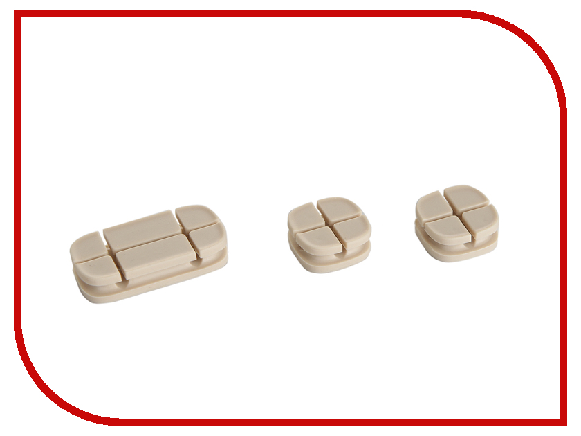 Аксессуар Baseus Cross Peas Cable Clip Oak ACTDJ-0K