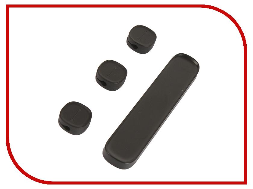 Аксессуар Baseus Peas Cable Clip Black ACWDJ-01