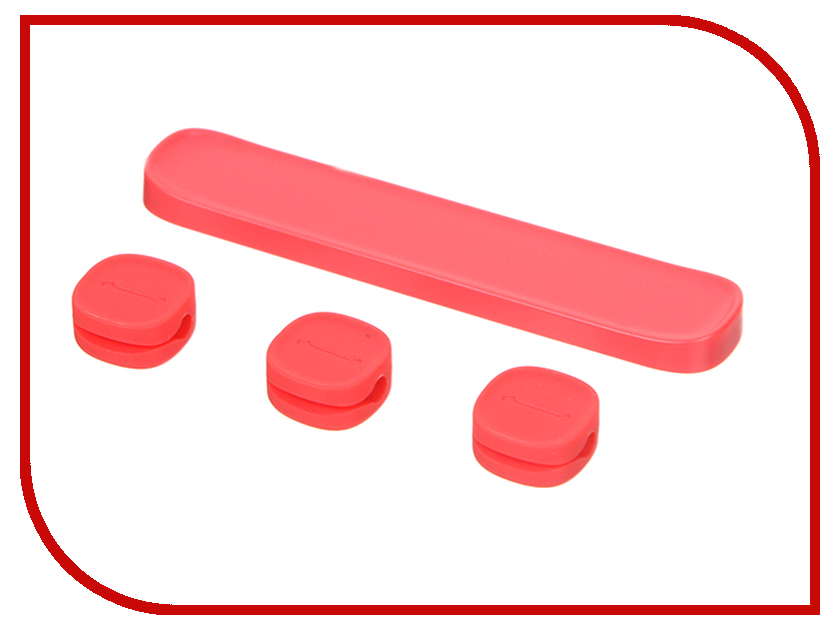 Аксессуар Baseus Peas Cable Clip Red ACWDJ-09
