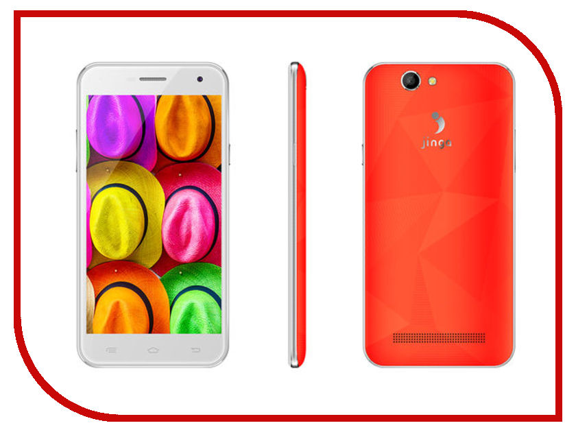 Сотовый телефон Jinga Fresh 4G Orange сотовый телефон wileyfox spark цена