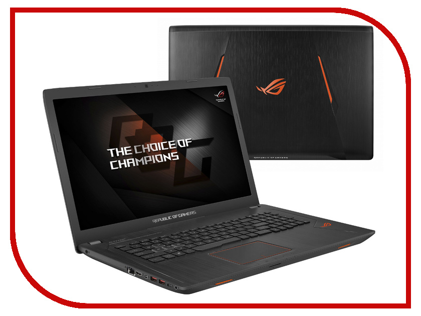 Ноутбук ASUS ROG GL753VD-GC140 90NB0DM2-M02050 (Intel Core i7-7700HQ 2.8 GHz/8192Mb/1000Gb + 128Gb SSD/DVD-RW/nVidia GeForce GTX 1050 4096Mb/Wi-Fi/Cam/17.3/1920x1080/Linux) ноутбук asus k751sj ty020d 90nb07s1 m00320