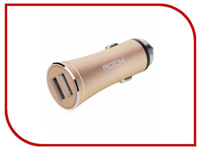 Зарядное устройство Rock H1 2xUSB 2.4A RCC0117 Gold