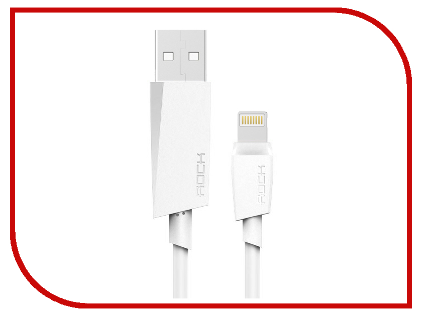 Аксессуар Rock USB to Lightning M3 MFI Round Cable 2m RCB0473 White rombica digital ig 02 usb apple lightning mfi white кабель 0 35 м