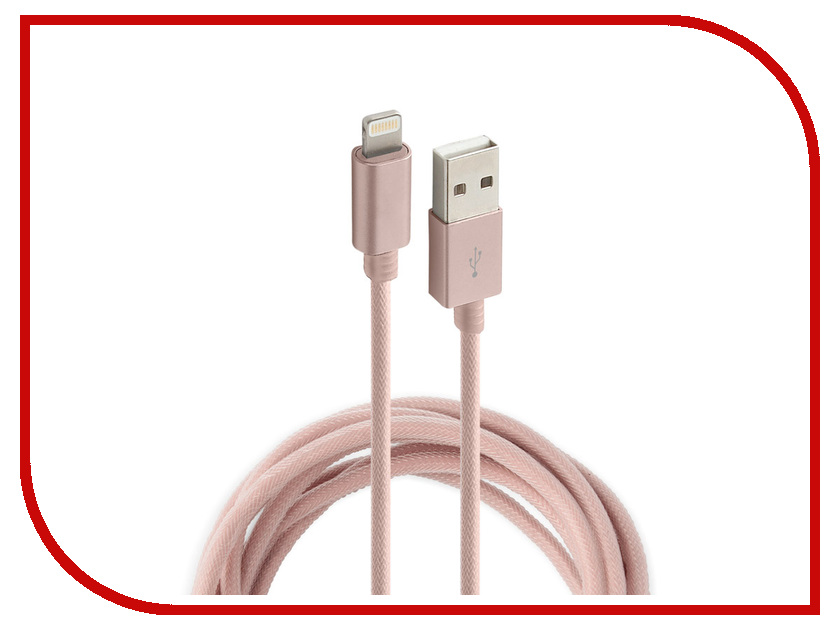Аксессуар Rock USB to Lightning Metal Charge & Sync Round Cable 1m RCB0432 Rose Gold аксессуар pineng pn 305 usb lightning gold