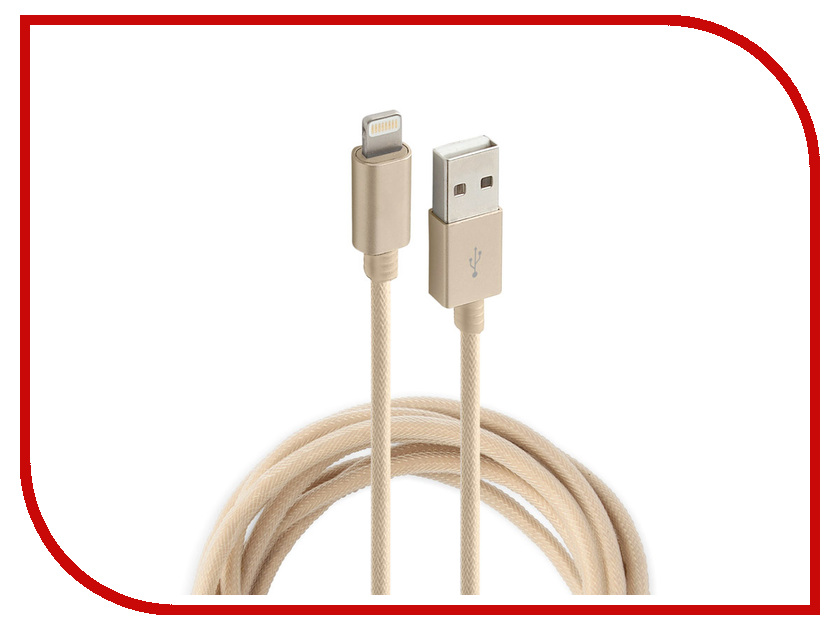 Аксессуар Rock USB to Lightning Metal Charge & Sync Round Cable 20cm RCB0432 Gold аксессуар fusechicken usb lightning armour charge 2m sbc 200