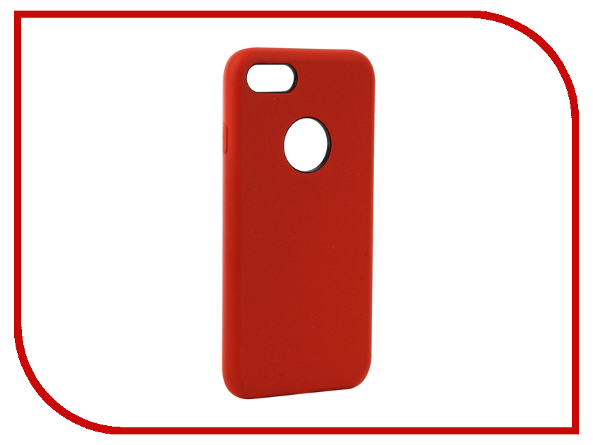 Аксессуар Чехол Rock Touch Series Silicone для iPhone 7 RPC1153 Red аксессуар чехол rock touch series silicone для iphone 7 plus rpc1153 light blue