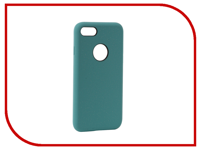 Аксессуар Чехол Rock Touch Series Silicone для iPhone 7 RPC1153 Light Blue аксессуар чехол rock elite series для iphone 7 plus black