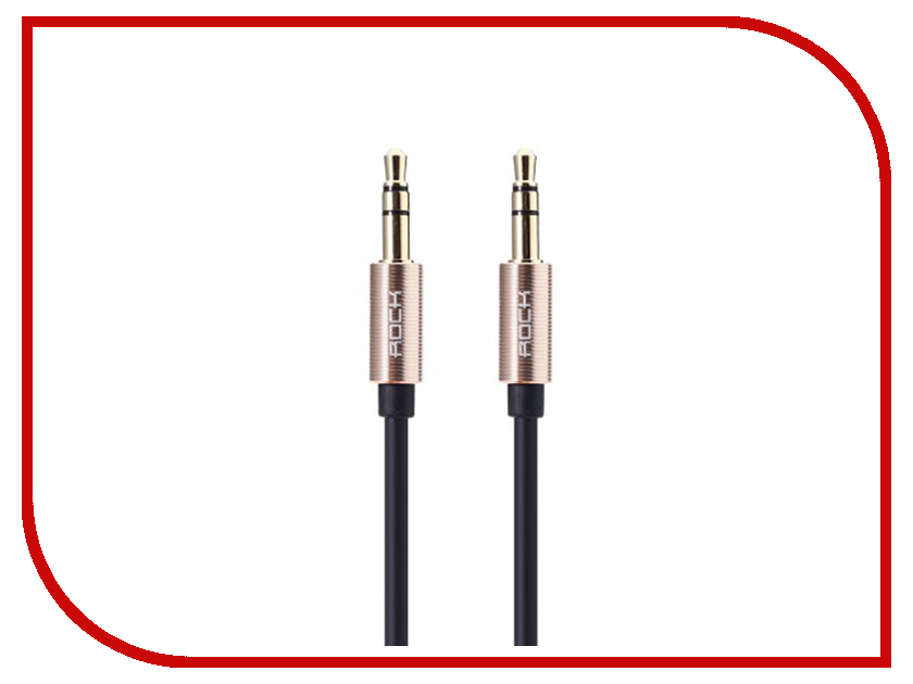 Аксессуар Rock AUX 3.5mm Audio Cable 2m RAU0509 Golden аксессуар anker premium aux 3 5mm 3 5mm 1 2m a7123011