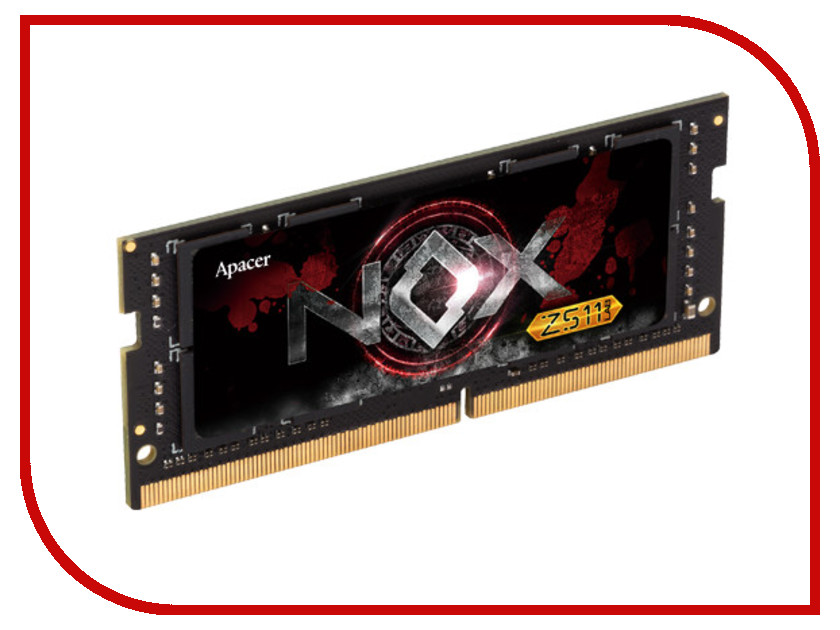 Модуль памяти Apacer NOXS SO-DIMM DDR4 2400MHz PC4-21300 CL18 - 8Gb ES.08G2V.GGE модуль памяти patriot memory ddr4 so dimm 2400mhz pc4 19200 cl17 4gb psd44g240041s