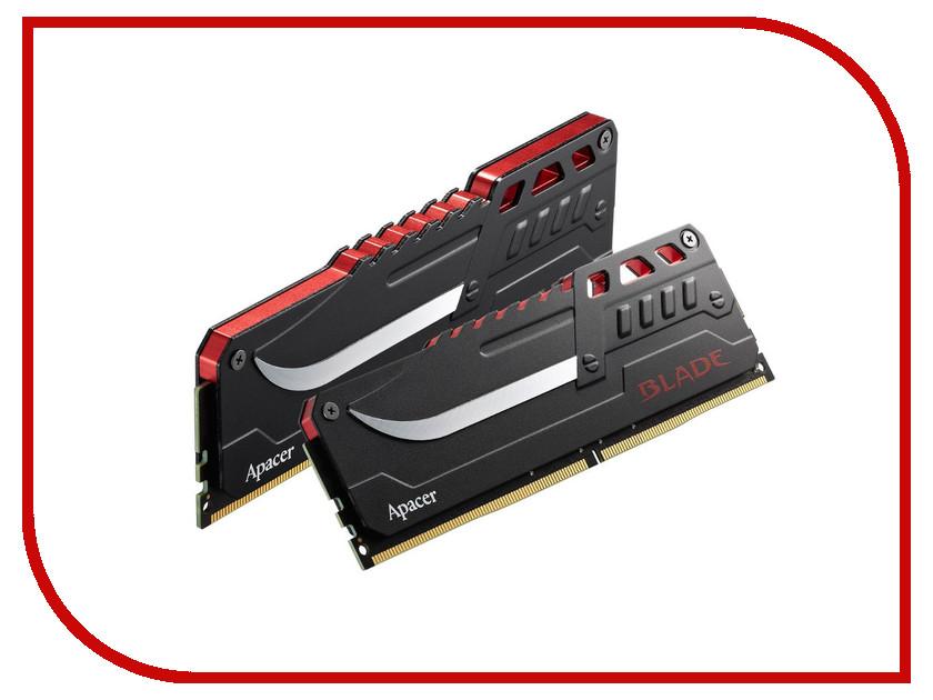 Модуль памяти Apacer Blade DIMM DDR4 2800MHz PC4-22400 CL17 (2x8Gb) EK.16GAW.GFBK2 pc4 24000 ddr4 dimm apacer