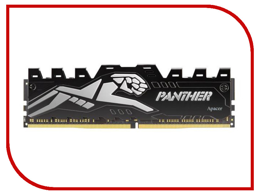Модуль памяти Apacer Panther Silver DIMM DDR4 2400MHz PC4-19200 CL16 8Gb EK.08G2T.GEF модуль памяти patriot memory ddr4 so dimm 2400mhz pc4 19200 cl17 4gb psd44g240041s