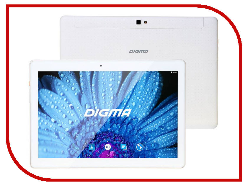 Планшет Digma Plane 1512 3G White PS1120MG (MT8321 1.3 GHz/2048Mb/16Gb/Wi-Fi/3G/Bluetooth/Cam/10.1/1280x800/Android) 432333