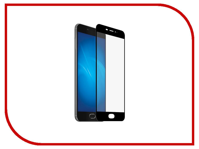 Аксессуар Закаленное стекло для Meizu Pro 6 Plus DF Full Screen mzColor-13 Black lcd display screen touch panel digitizer with frame for 5 2 meizu pro 6 pro6 pro 6s pro6s white black color free shipping