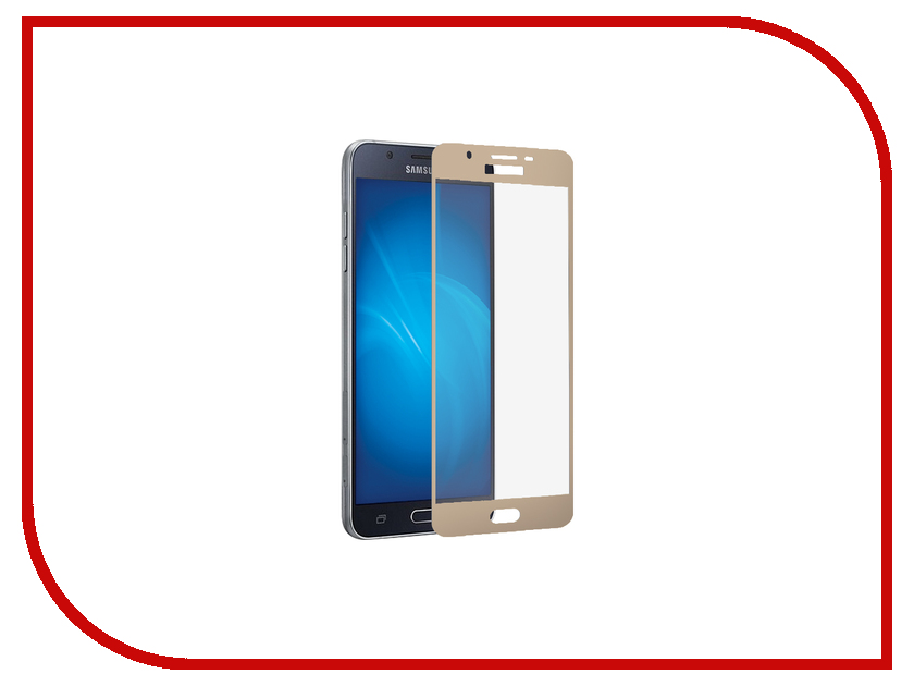 Аксессуар Закаленное стекло Samsung Galaxy J3 (2017) DF Full Screen sColor-20 Gold df scolor 08