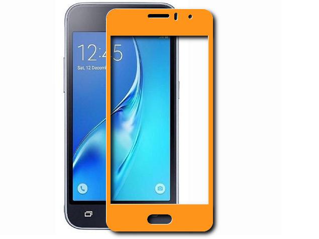 Аксессуар Закаленное стекло DF для Samsung Galaxy J1 mini Prime SM-J106 Full Screen sColor-25 Gold аксессуар закаленное стекло для samsung galaxy j1 mini prime sm j106 j1 mini prime 2016 df ssteel 58