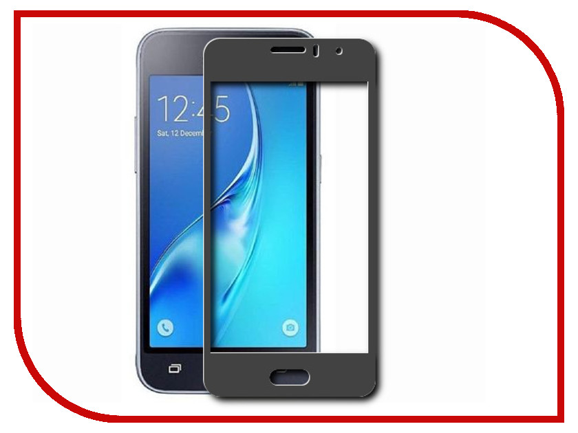 Аксессуар Закаленное стекло Samsung Galaxy J1 mini Prime SM-J106 DF Full Screen sColor-25 Black df scolor 08