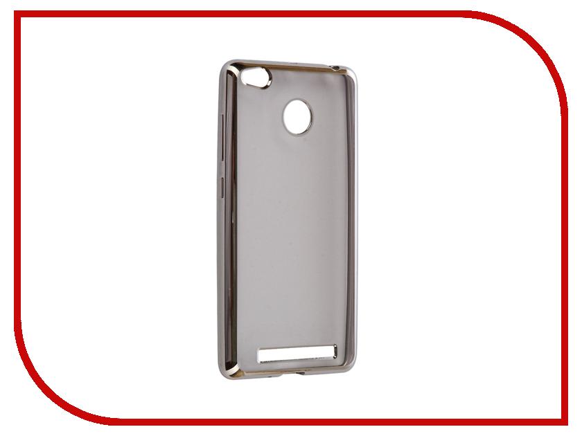 Аксессуар Чехол Xiaomi Redmi 3/3s/3 Pro iBox Blaze Silicone Silver frame аксессуар чехол xiaomi redmi 3 3 pro ibox crystal grey