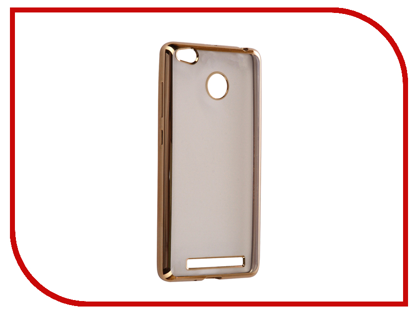 Аксессуар Чехол Xiaomi Redmi 3/3s/3 Pro iBox Blaze Silicone Gold frame аксессуар чехол xiaomi redmi 3 3 pro ibox crystal grey