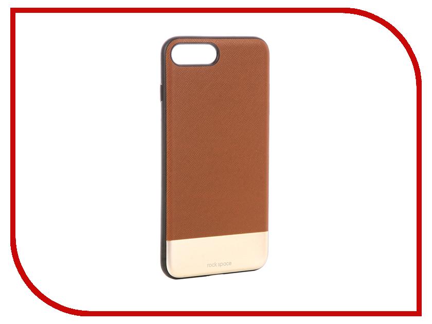 Аксессуар Чехол Rock Elite Series для iPhone 7 Plus Brown аксессуар чехол stone age jungle collection wood skin для iphone 6 plus кожа brown w8582