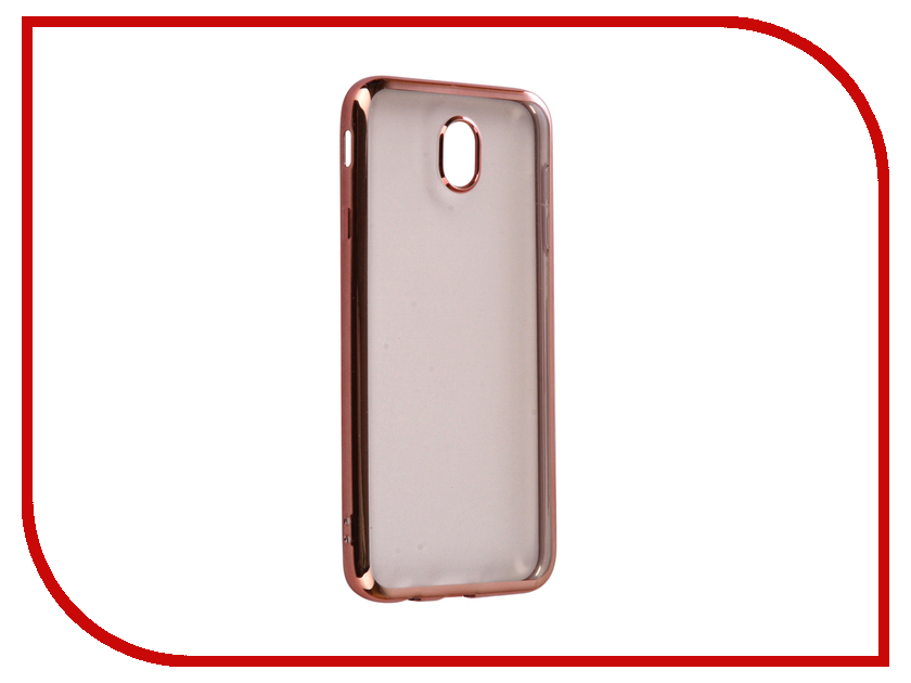 Аксессуар Чехол Samsung Galaxy J7 2017 iBox Blaze Silicone Pink frame аксессуар чехол ibox blaze для apple iphone 5 5s se pink