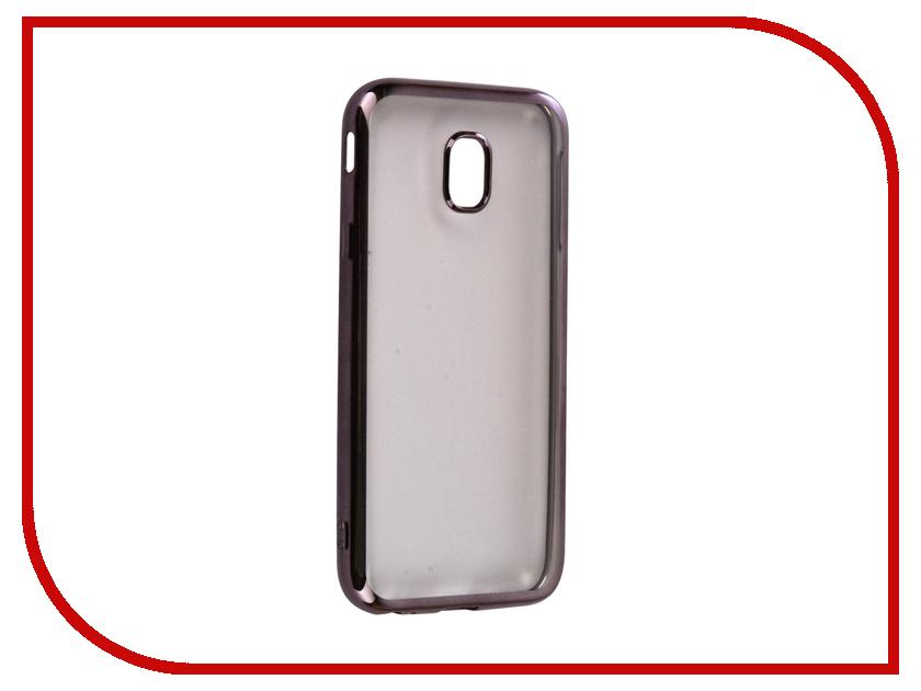 Аксессуар Чехол Samsung Galaxy J3 2017 iBox Blaze Silicone Black frame клип кейс ibox blaze для samsung galaxy j3 2016 черный