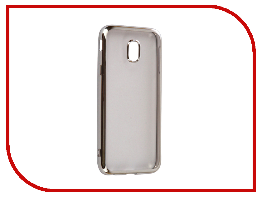 Аксессуар Чехол Samsung Galaxy J3 2017 iBox Blaze Silicone Silver frame клип кейс ibox blaze для samsung galaxy j3 2016 черный