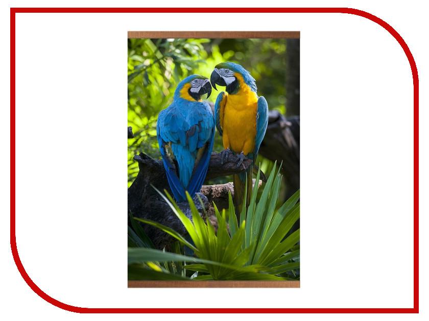 Обогреватель Самобранка Домашний очаг Попугаи мерцающий песок попугаи