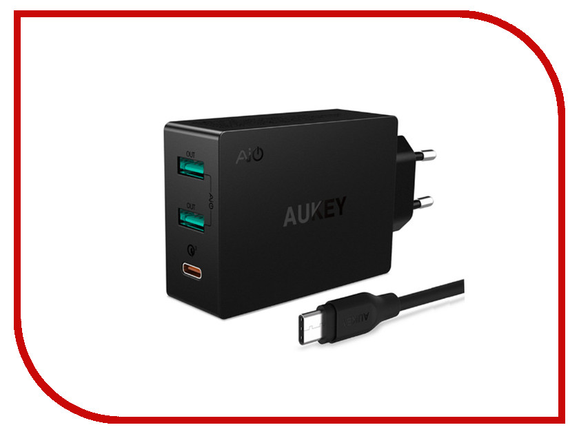 Зарядное устройство Aukey PA-Y4 Black зарядное устройство aukey 4xusb cc t9