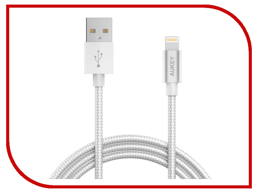Аксессуар Aukey USB - Lightning 1.2m Gray CB-D16 d16 rbuz