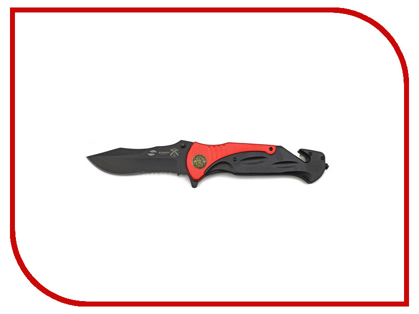 Нож Stinger FK-A138 Black-Red - длина лезвия 100мм<br>