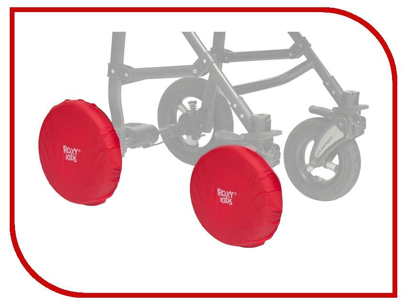 Чехлы на колеса коляски Roxy-Kids Red RWC-030-R коляски трансформеры bart plast victoria pkl надувные колеса