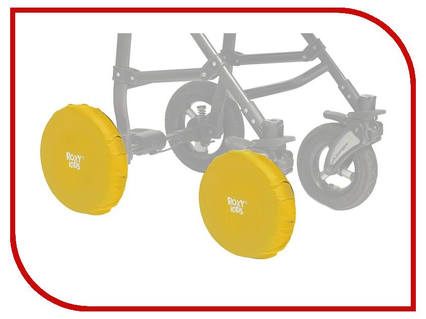 Чехлы на колеса коляски Roxy-Kids Yellow RWC-030-Y