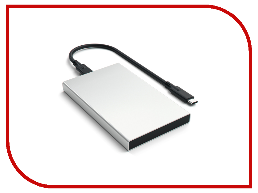 Корпус для HDD Satechi Aluminum ST-TCDES HDD 2.5 USB Type C External Silver extruded aluminum enclosures 4 pcs lot aluminum project box silver color enclosure wall mounted gps tracker housing