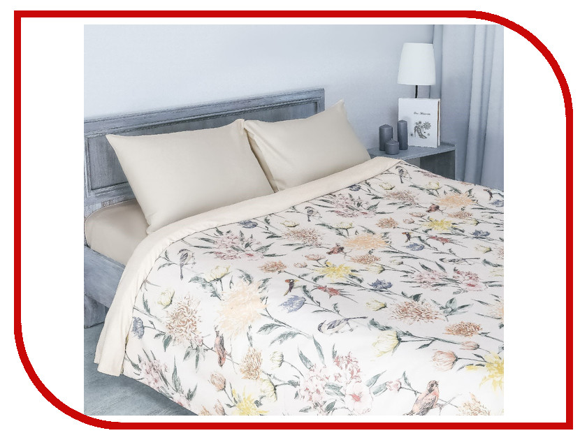 Постельное белье Этель Летнее утро Комплект Евро Мако-сатин 2346516 постельное белье этель калейдоскоп комплект 1 5 спальный мако сатин 2346502