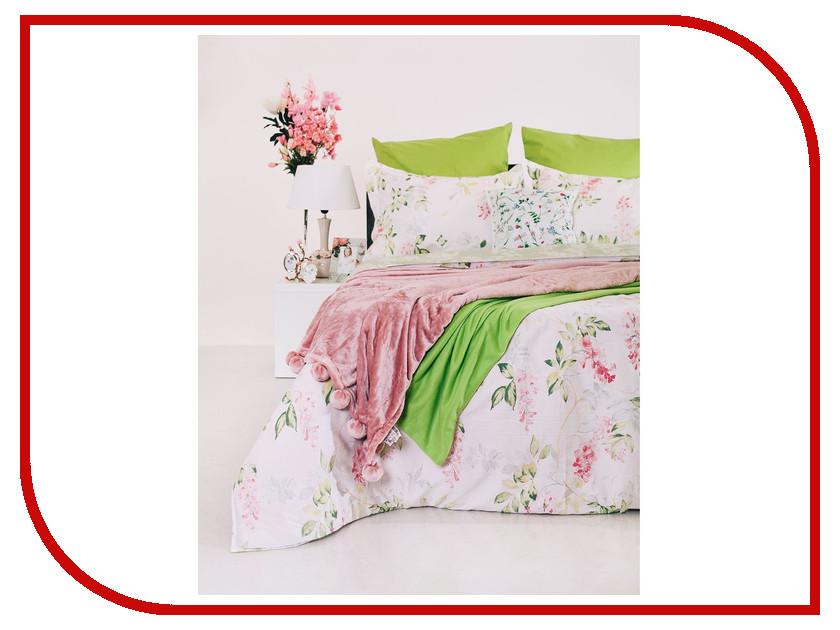 Постельное белье Этель Зеленый сад Комплект 1.5 спальный Сатин 1773433 постельное белье этель зеленый сад комплект 1 5 спальный поплин 1534721