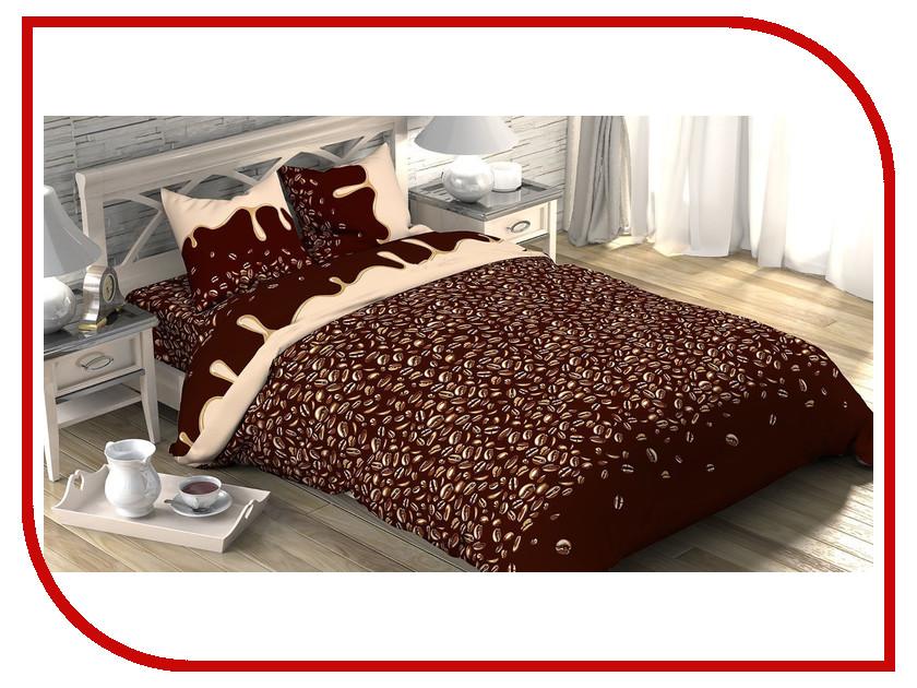 Постельное белье Этель Кофе Комплект 1.5 спальный Бязь 1090385
