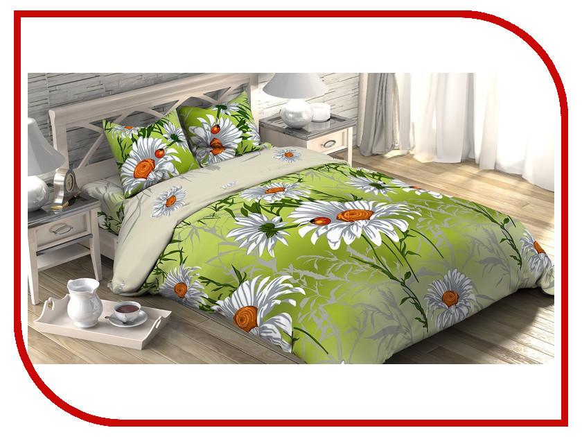 Постельное белье Этель Ромашковое поле Комплект 2 спальный Бязь 1090416 постельное белье гербарий бежевый gs бязь 2 спальный
