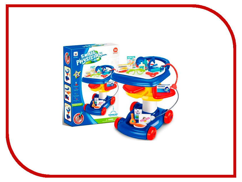 Игра Shantou Gepai Доктор: столик на колесах W083 игра shantou gepai 58000 9