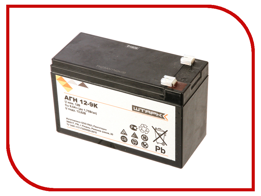Аккумулятор для ИБП Штарк АГН 12-9-К crown cbt 12 9 2 аккумулятор для ибп